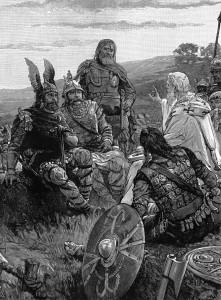 Biskup Wulfila wyjaśnia Gotom Ewangelię, źródło: Wikimedia Commons