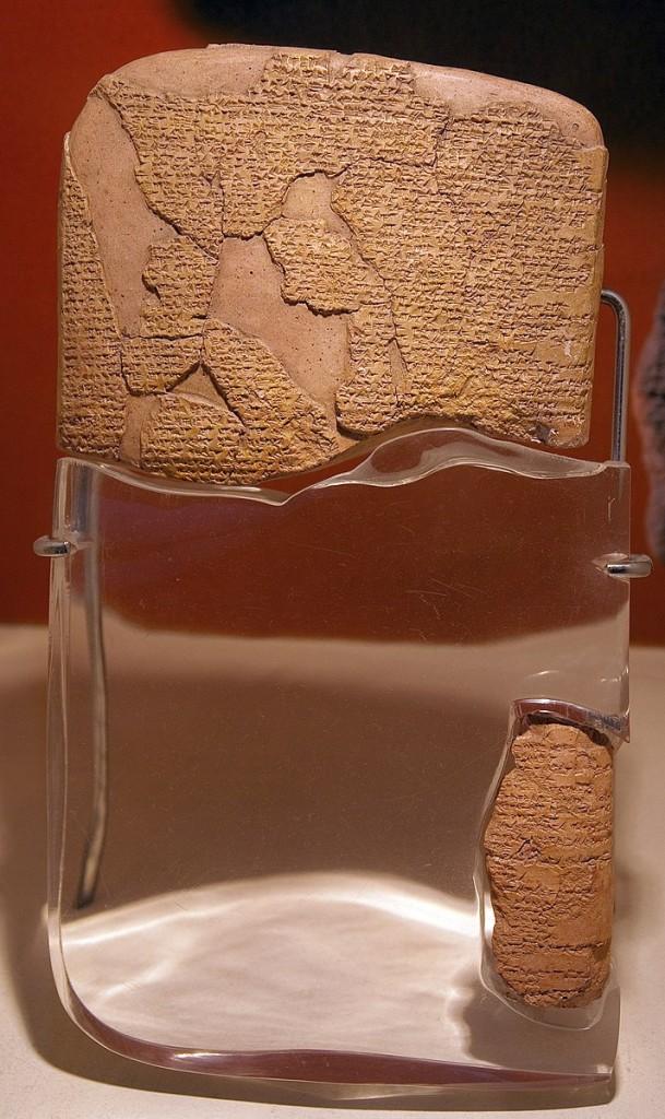 Jedna z tabliczek odkrytych w Boğazköy, źródło: Wikimedia Commons