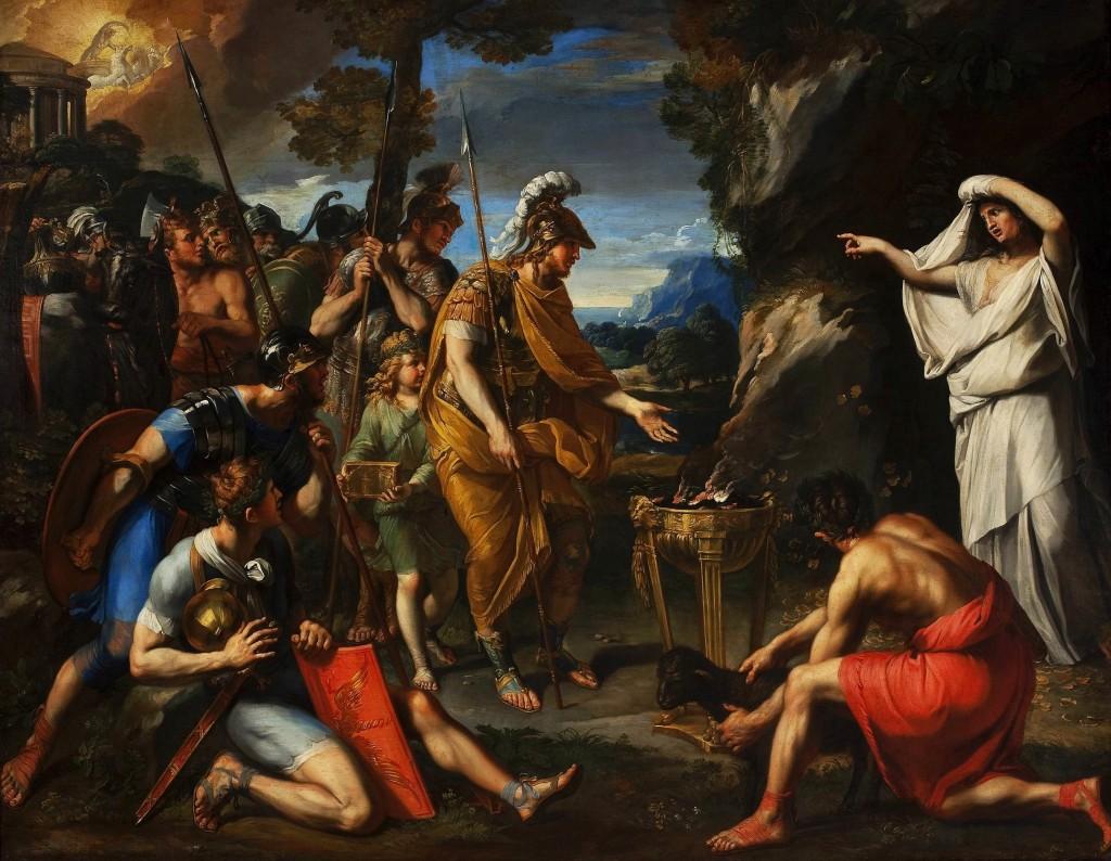 """""""Eneasz i Sybilla Kumańska"""" - obraz francuskiego malarza  François Perriera, źródło: Wikimedia Commons"""