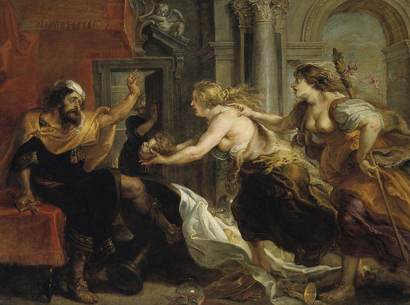 """Peter Paul Rubens, """"Tereus widzący głowę swojego syna Itysa"""", źródło: Wikimedia Commons"""