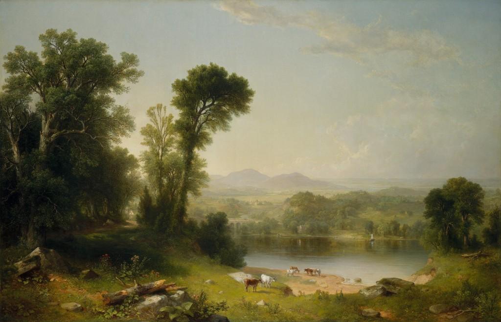 """Asher B. Durand, """"Krajobraz Pasterski"""", źródło: Wikimedia Commons"""