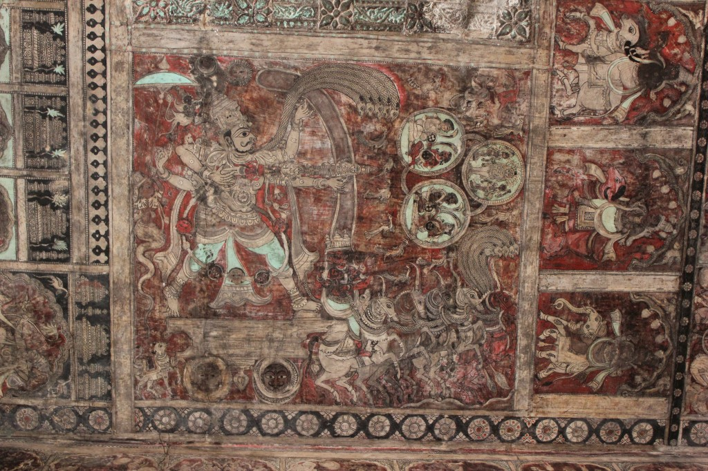 Malowidła na sklepieniu świątyni Wirupakszy w Hampi, źródło: Wikimedia Commons